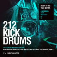 212 Kick Drums – Volume 1 by Production Master on Bantana Audio